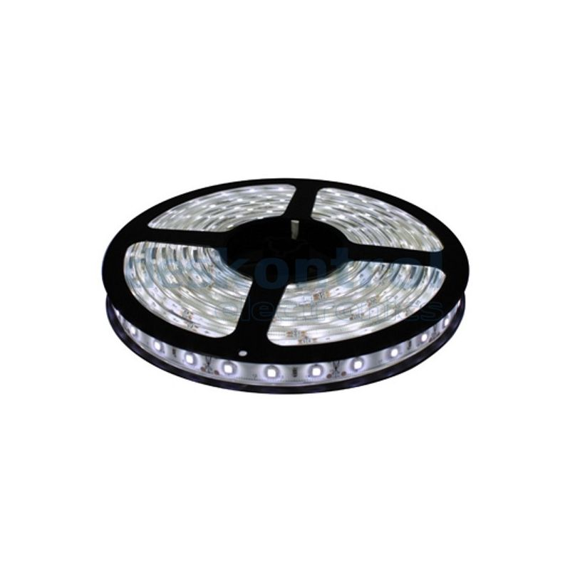 Cool White LED Strip - 5m. 300 leds SMD 5050 Waterproof IP65