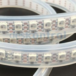 Tira de leds digital RGB 7mm 144 leds metro PCB blanco 35 w 1m