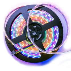 RGB digital led strip 12v 60 leds 60 pixels meter GS8208 5m