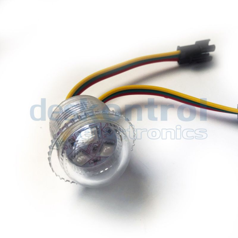 LED pixel 26mm UCS1903 3leds 0.72w 12v transparent